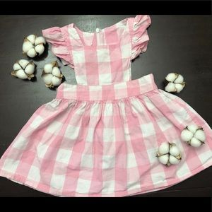 Other - Pink gingham toddler dress